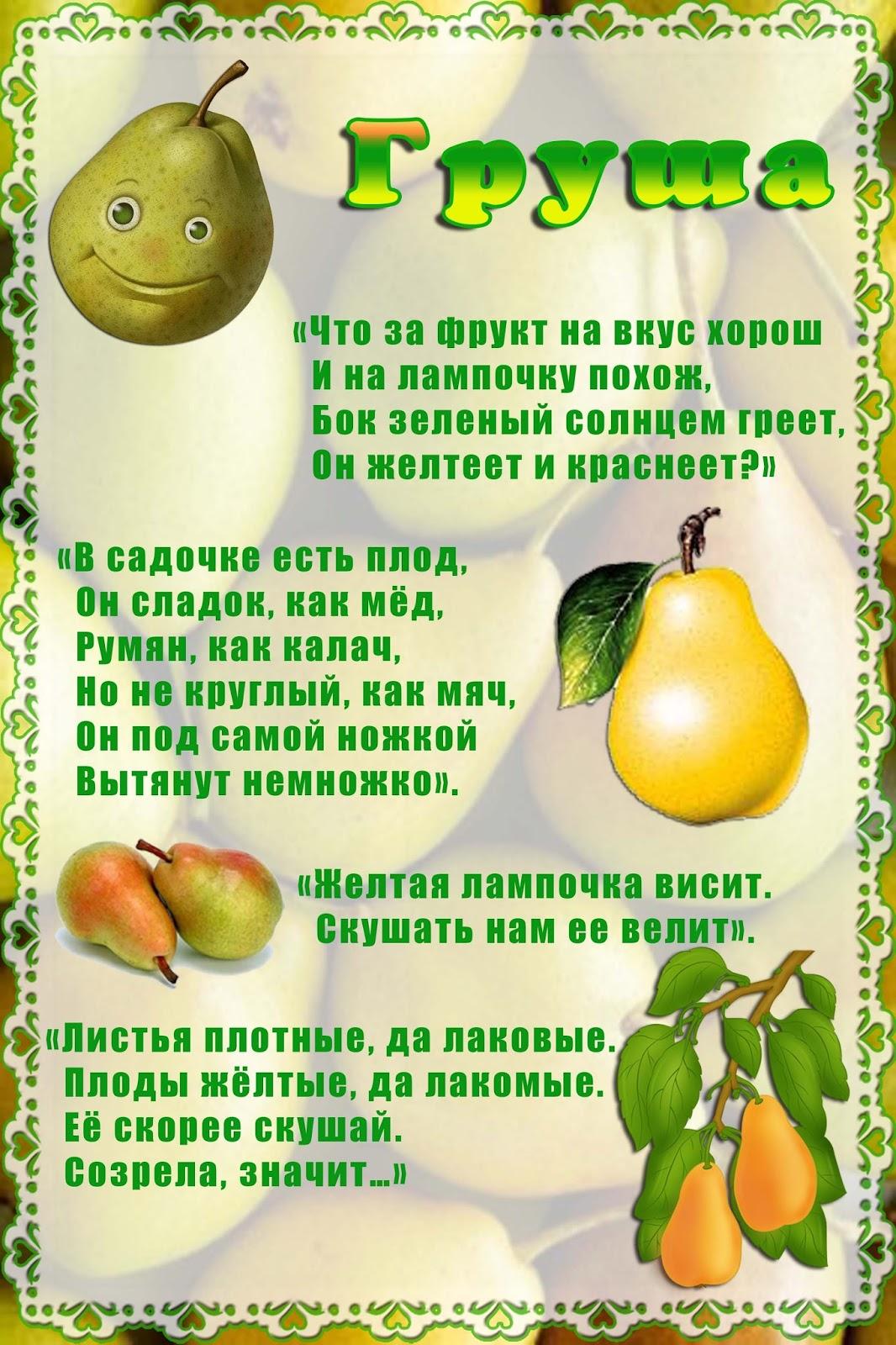 расскажем картинки и стихи про фрукты некоторым оговоркам