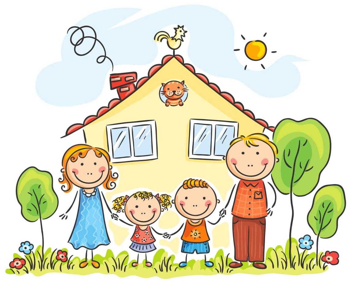 Картинки о семье с детьми